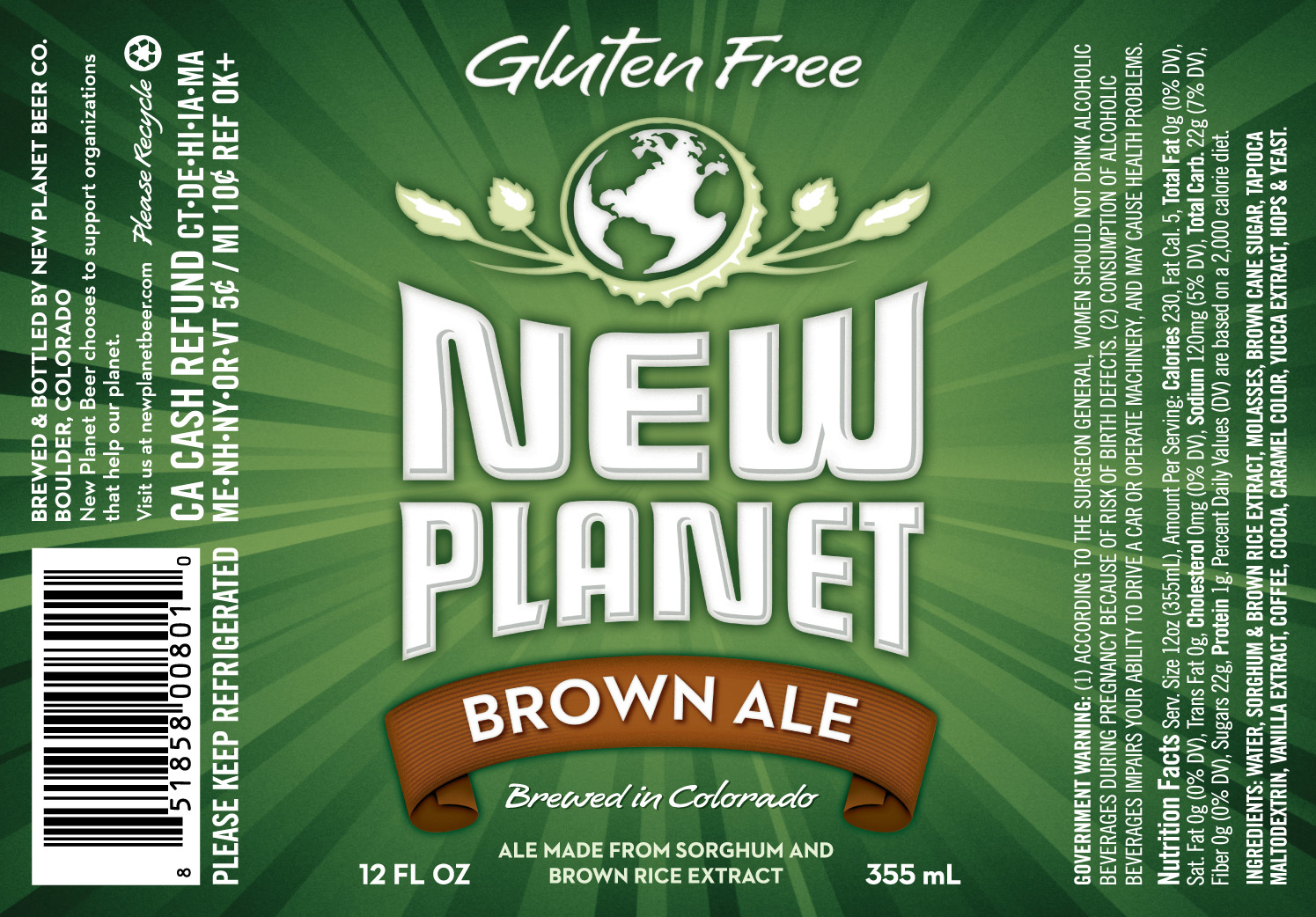 NPB Brown Ale label