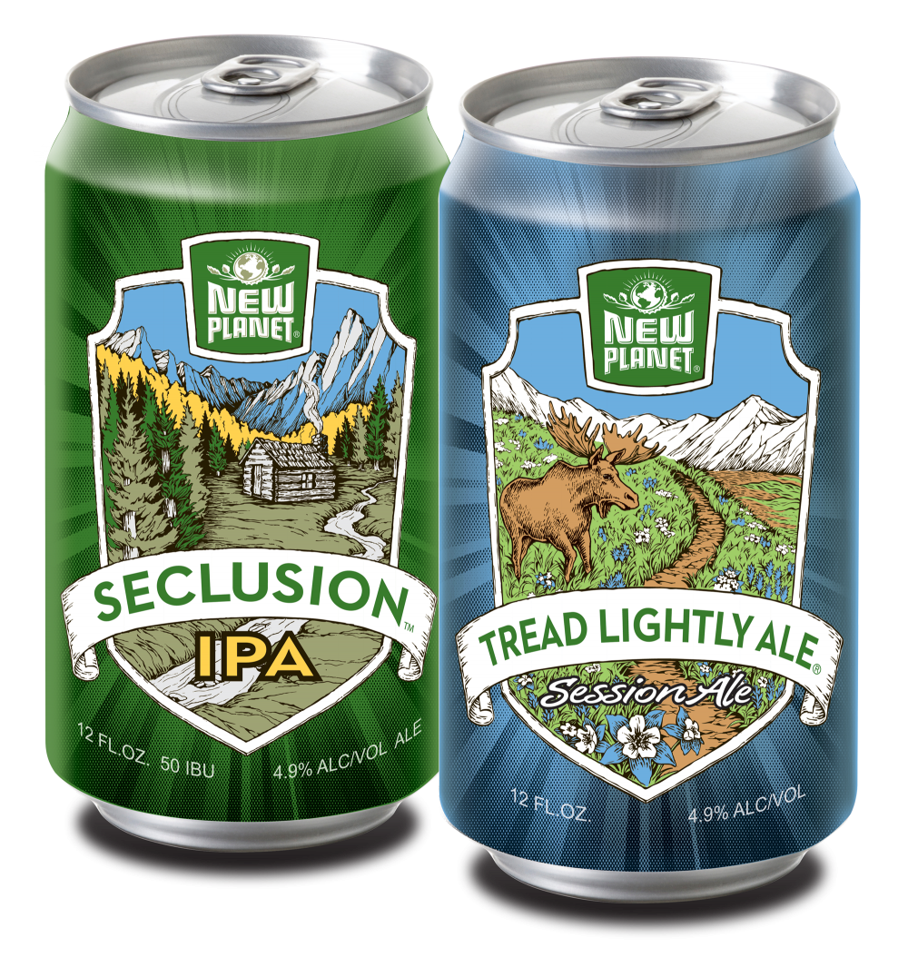 Seclusion IPA and Tread Lightly cans