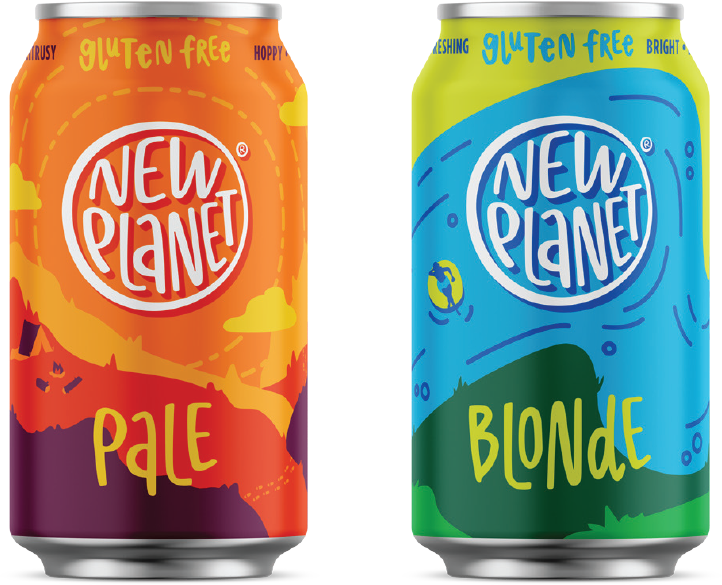 new planet been gluten free beer cans